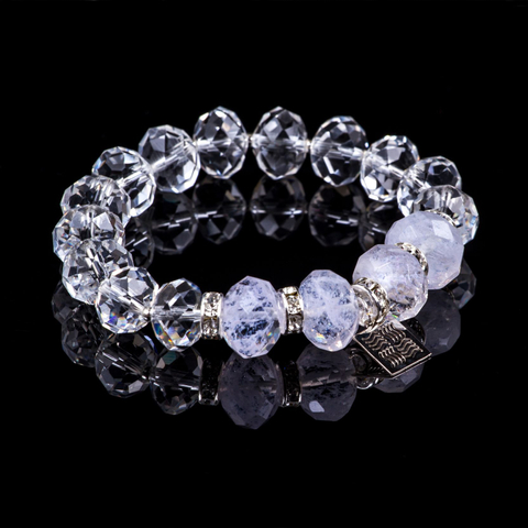 "Bracelet of the collection ""Crystal Symphony"""